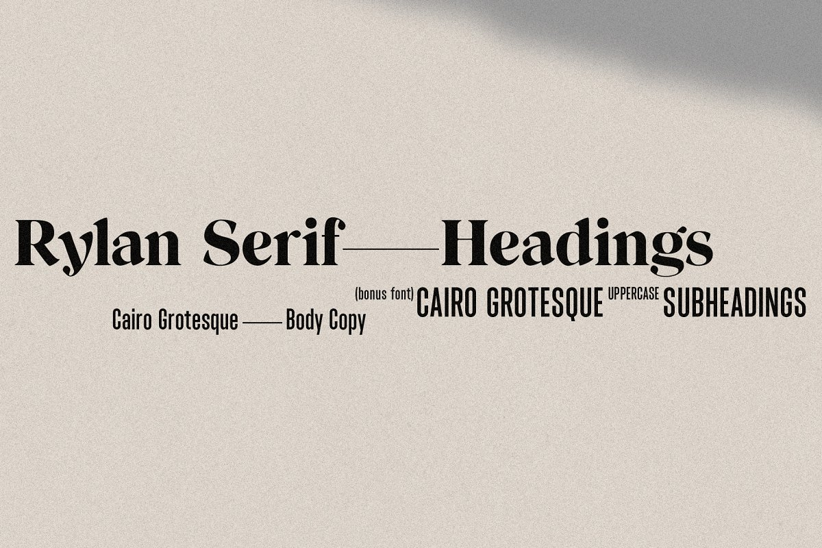 Rylan | Modern Serif w/ Free Extras in Serif Fonts - product preview 12