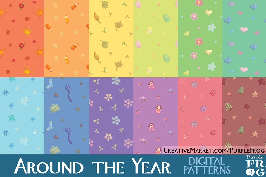 AROUND THE YEAR - Digital Patterns