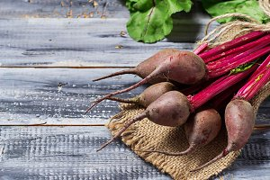 Fresh raw beetroot