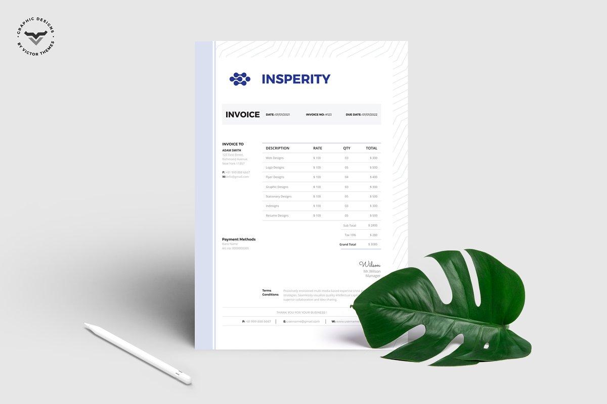 Creative Invoice Template