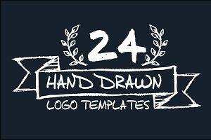 24 Hand Drawn Logo Templates