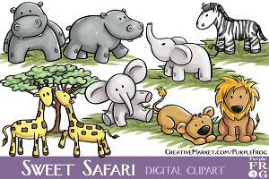 SWEET SAFARI - Digital Clipart