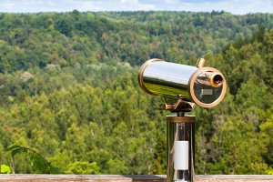 Telescope to observe the landscape