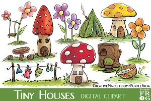 TINY HOUSES - Digital Clipart