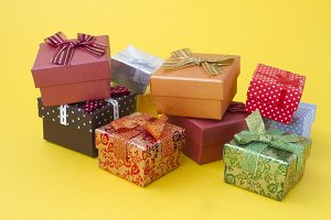 Gift boxes at Christmas