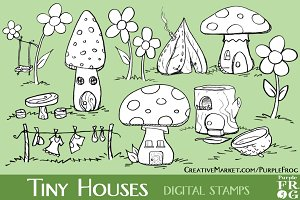 TINY HOUSES - Digital Stamps