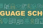Language school word concepts banner