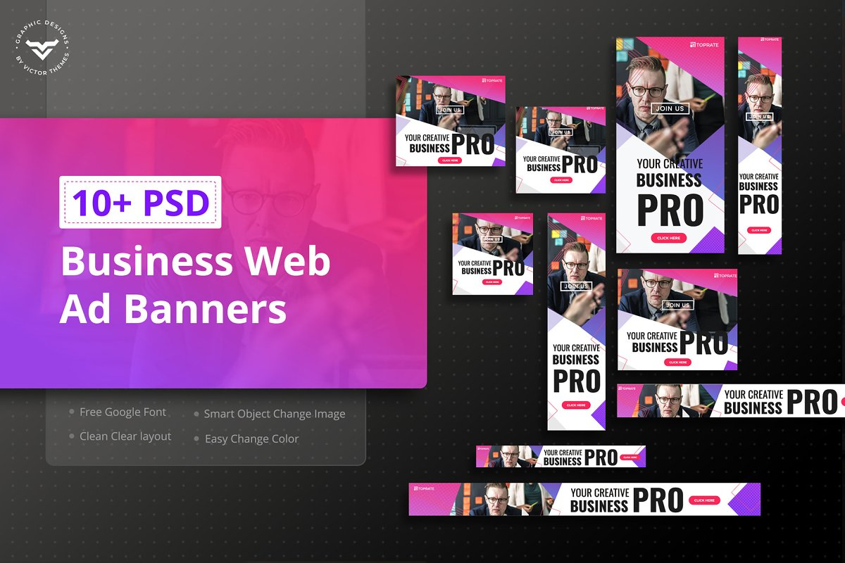 Business Corporate Web Ad's Banner in Web Elements