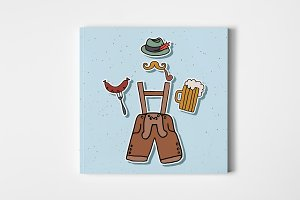 Hipster Oktoberfest Card
