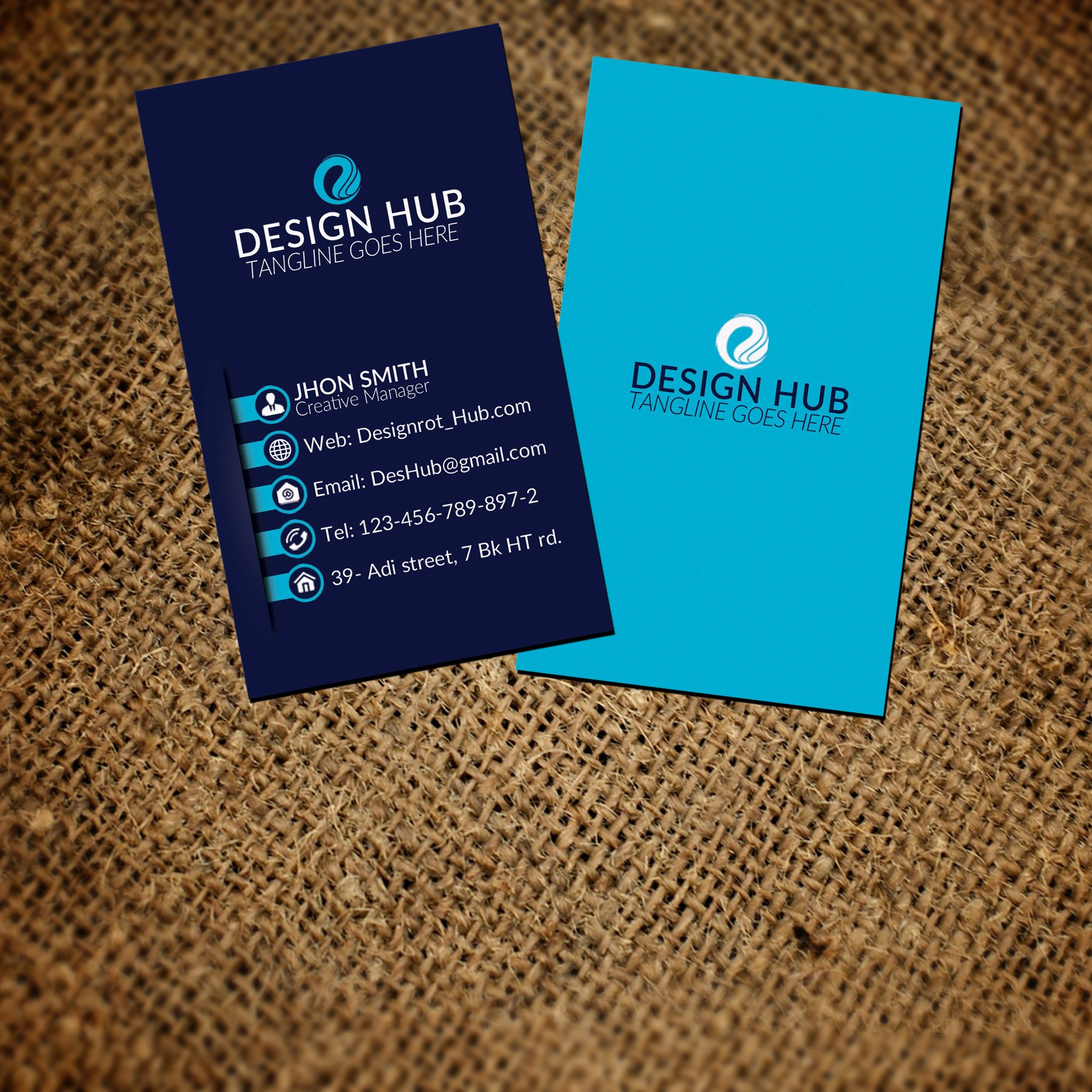 Vertical Business Card Template Free: Fabulous Vertical Business Card