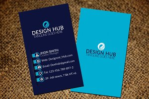 Fabulous vertical business card