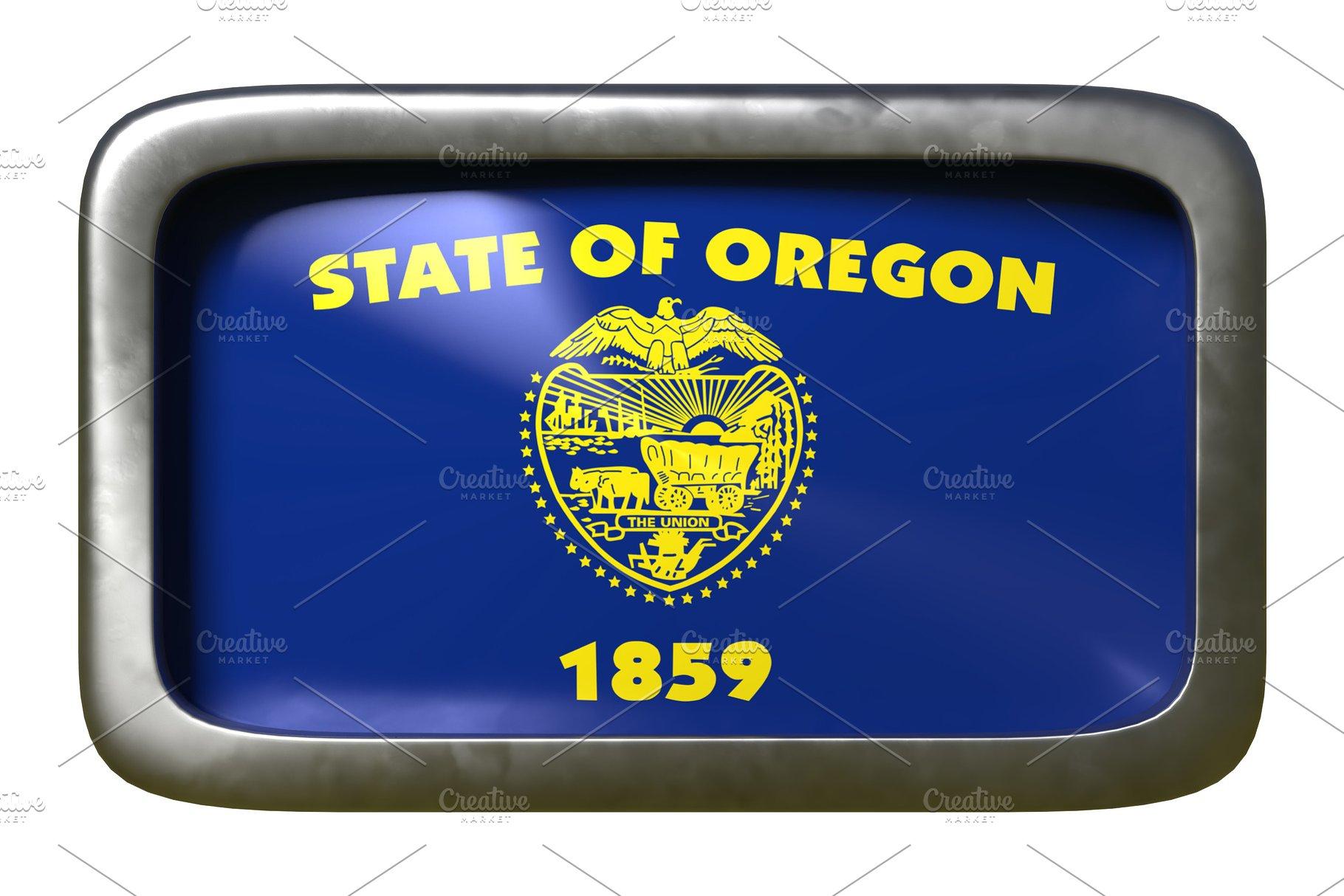 3d rendering of Oregon State flag