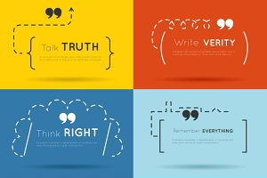 Vector quotes or quotations