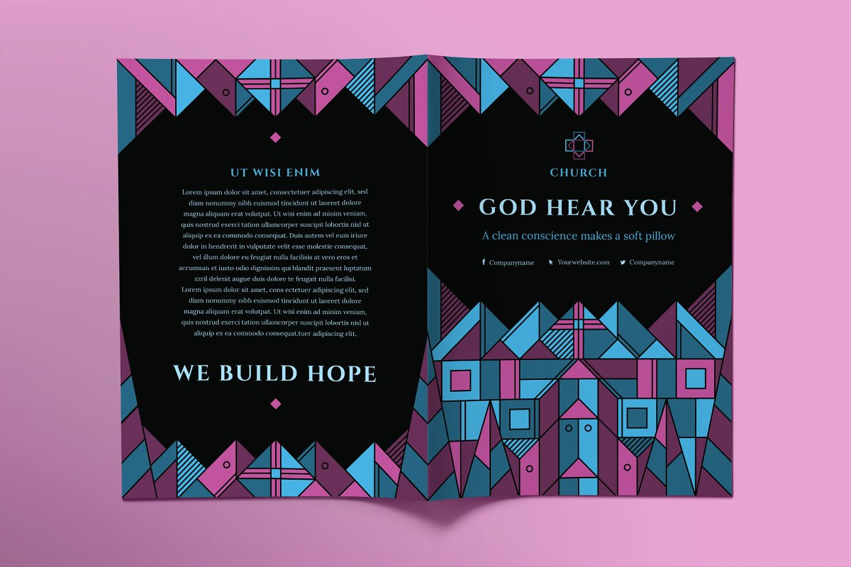 Church Brochure Bifold in Brochure Templates - product preview 1