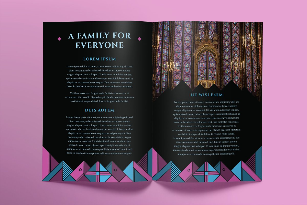 Church Brochure Bifold in Brochure Templates - product preview 2