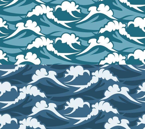 Waves Seamless Pattern Graphic Patterns Creative Market Amazing Wave Pattern