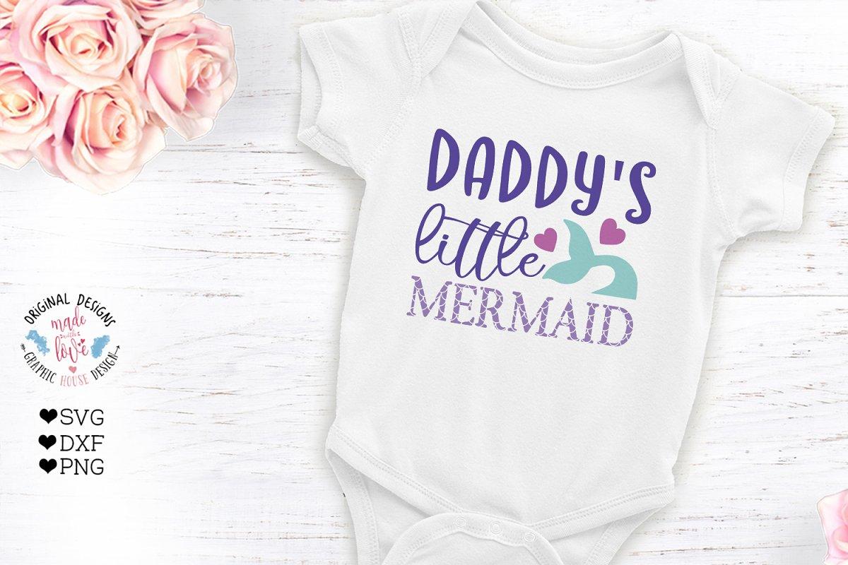 Daddy's little mermaid Cut file
