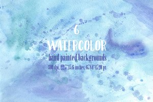 6 Watercolor Backgrounds