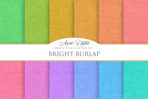 Bright Colorful Burlap Textures