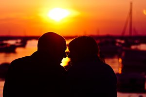 Lovely Couple at Sunset