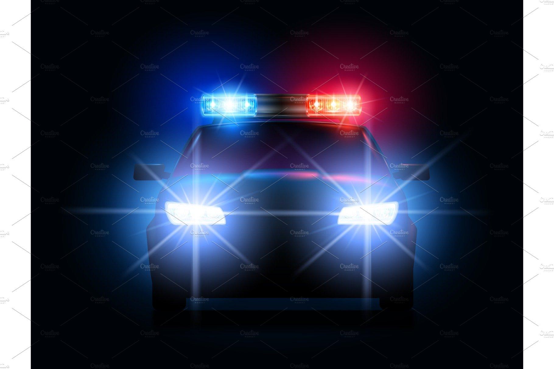 Police Led Lights >> Police Car Lights Security Sheriff Illustrations Creative Market