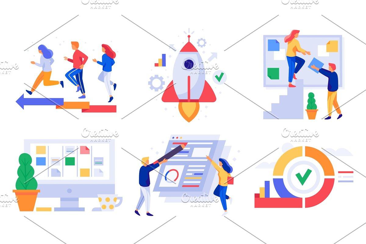 Agile Management kanban project management. agile