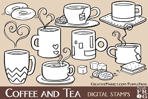 COFFEE AND TEA - Digital Stamps