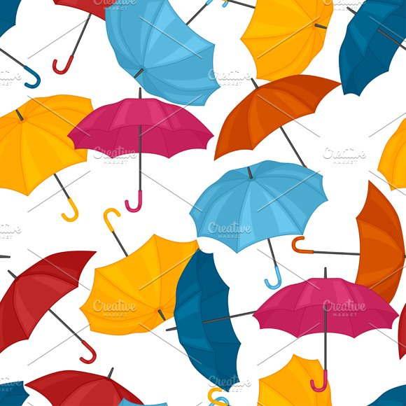 Abstract colored umbrellas.
