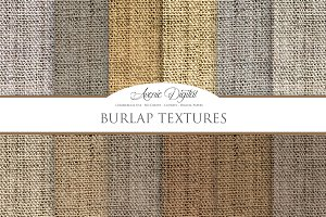 Burlap Textures Digital Papers