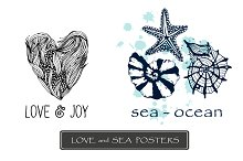 Love and sea posters