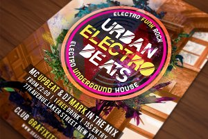 Urban Electro Beats Poster