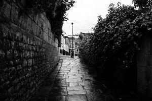 Alley   Solitude   Black and White