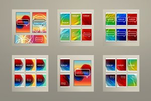 6 abstract pictures of bright color