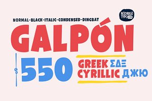 Galpón Family, Greek+Cyrillic 80%