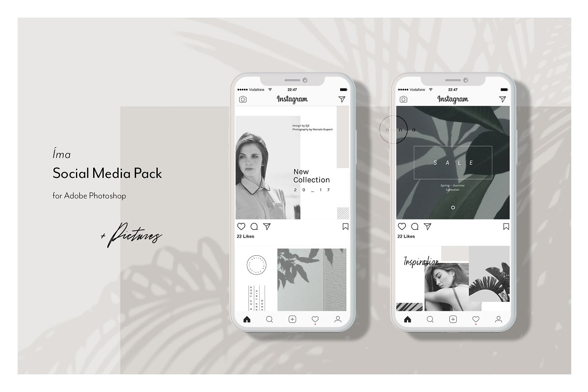 Lifestyle Social Media Pack • Íma in Instagram Templates - product preview 7