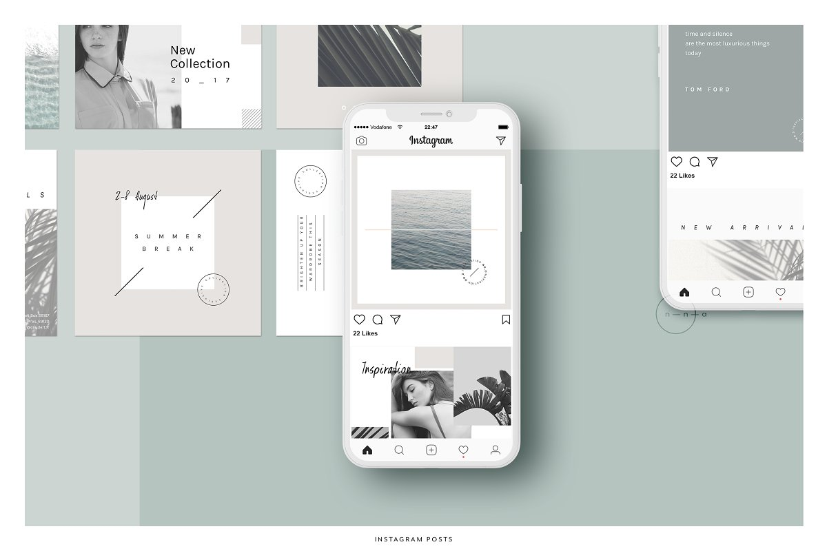 Lifestyle Social Media Pack • Íma in Instagram Templates - product preview 5