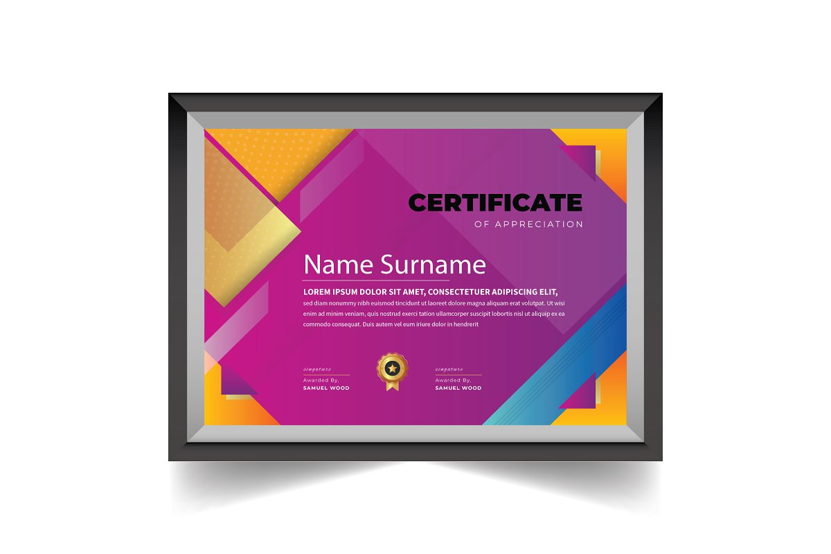 Abstract Certificate Design Template