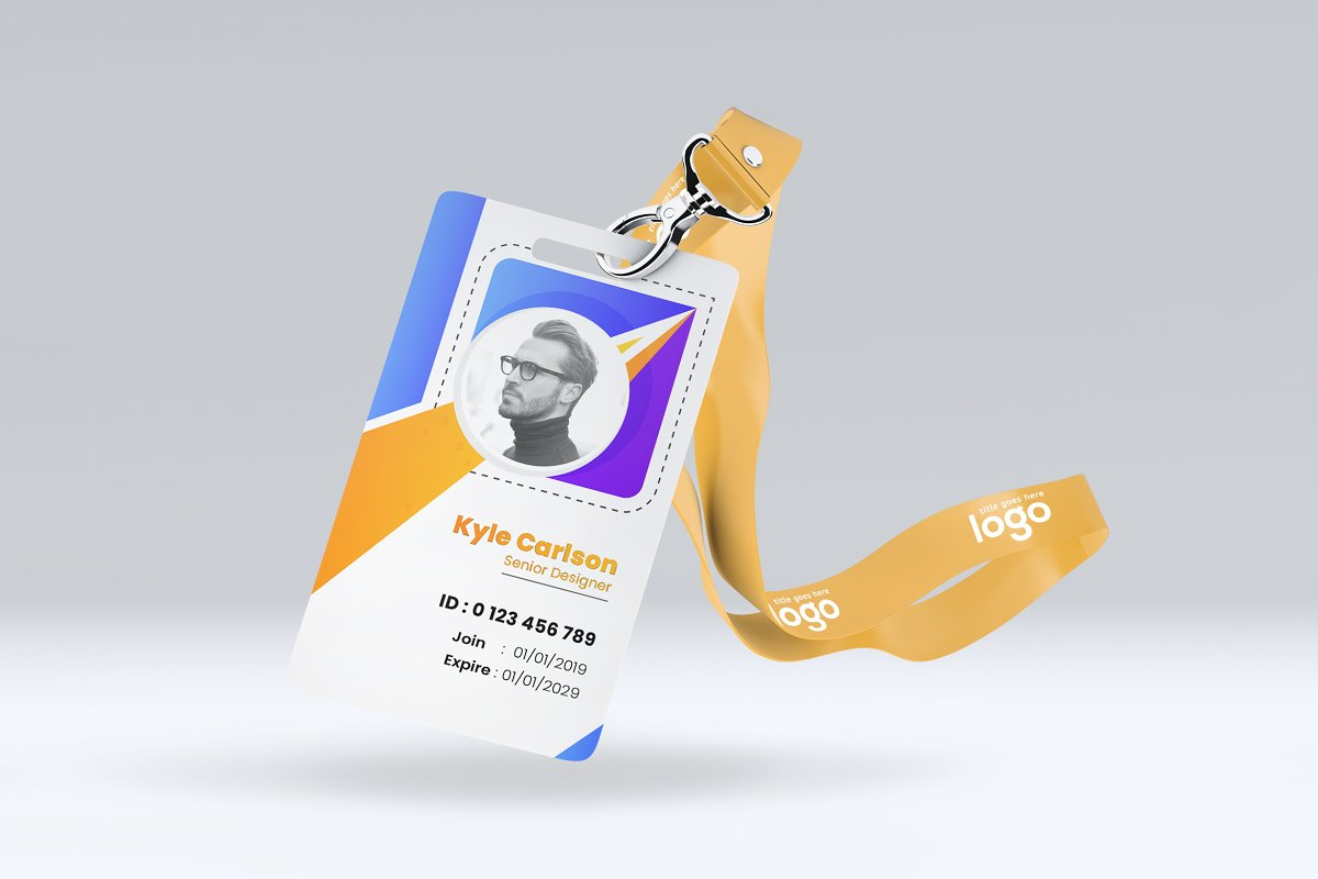 Colorful Id Card Design Template