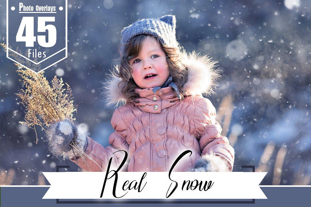 45 Real snow Photoshop overlays