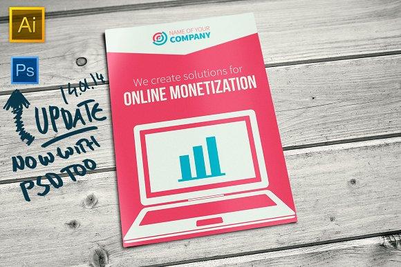 Bifold Online Business Brochure Brochure Templates Creative - Online brochures templates