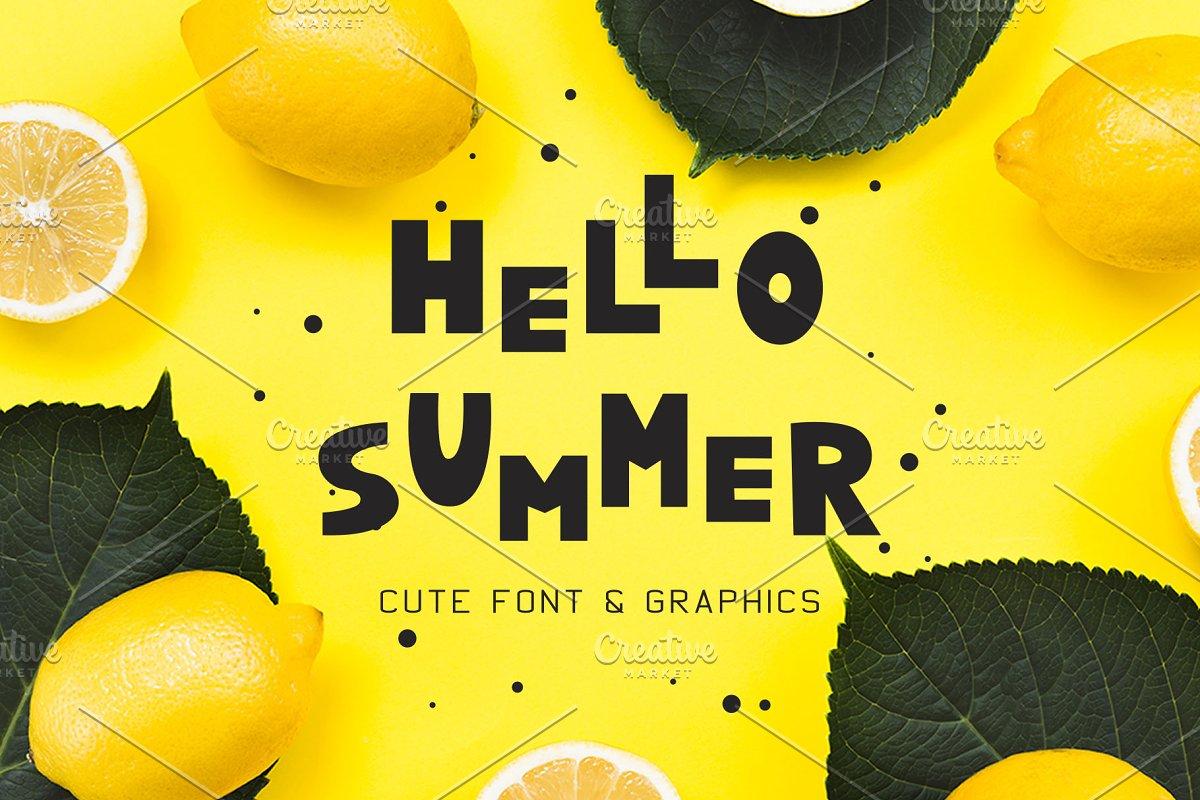 Summer Font and Lemons Pack