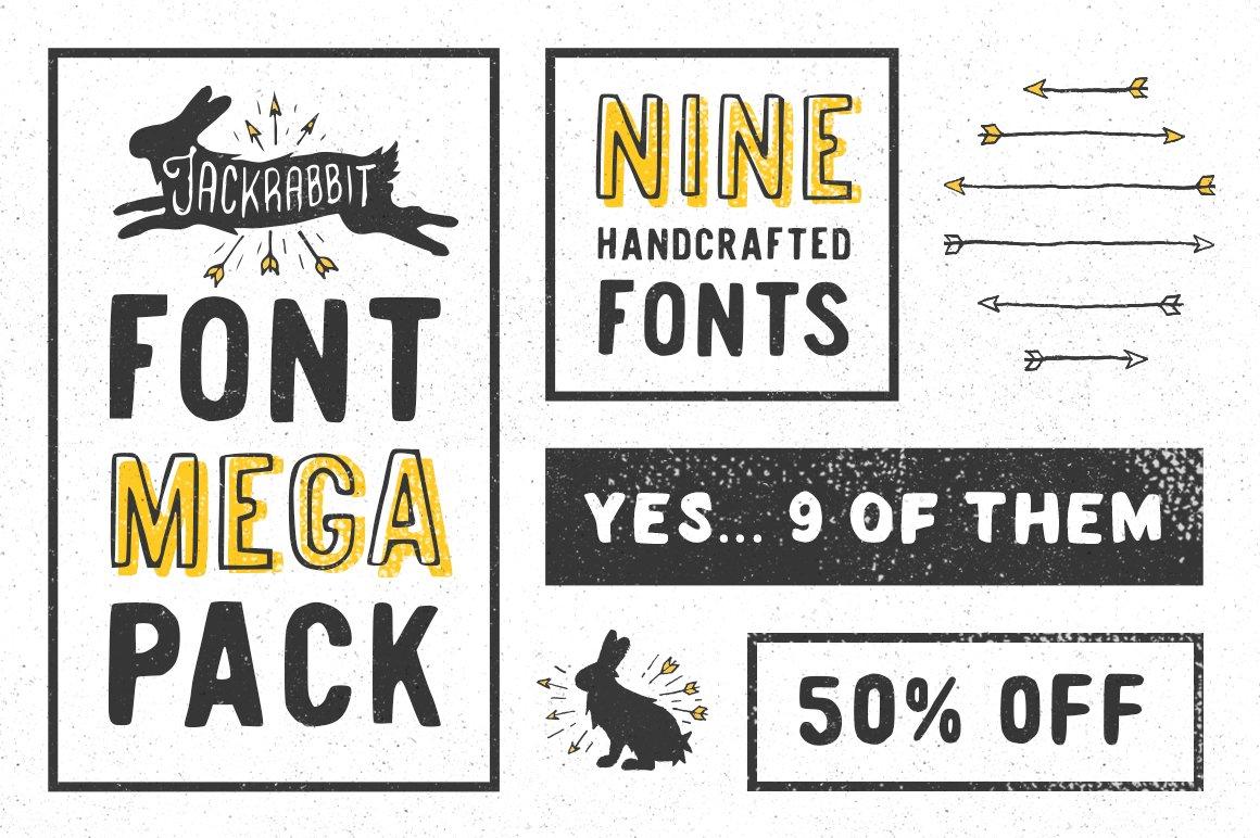 Download Jackrabbit Font Mega Pack | Stunning Display Fonts ...