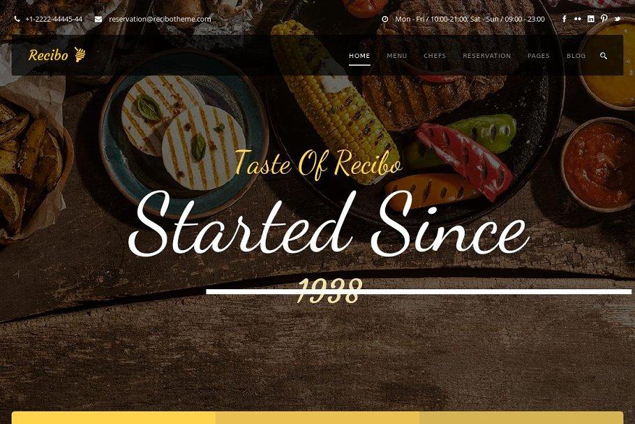 Restaurant / Food HTML Template