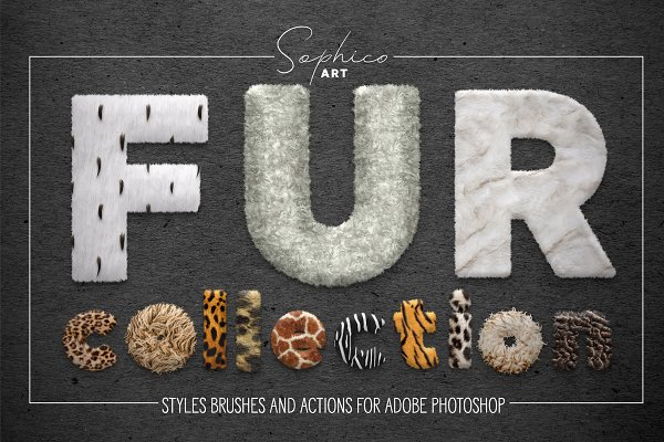 Photoshop Actions: Sophico - Fur Styles, Actions, Brushes