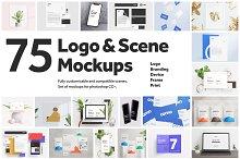 75 Logo and Scene Mockups by  in Mockups