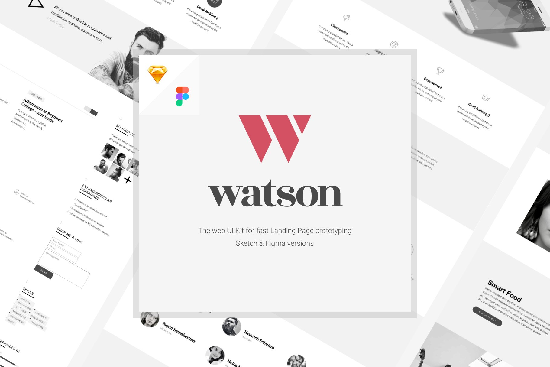 Dr Watson UI Kit for Sketch & Figma ~ UI Kits and Libraries