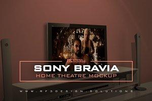 Sony Bravia: Home Theatre Mockup