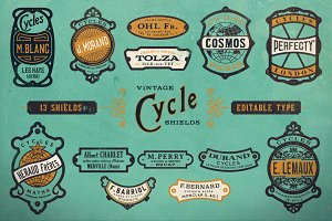 Vintage Bicycle Shields