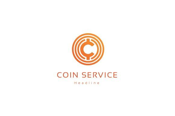 Coin service company logo. ~ Logo Templates ~ Creative Market