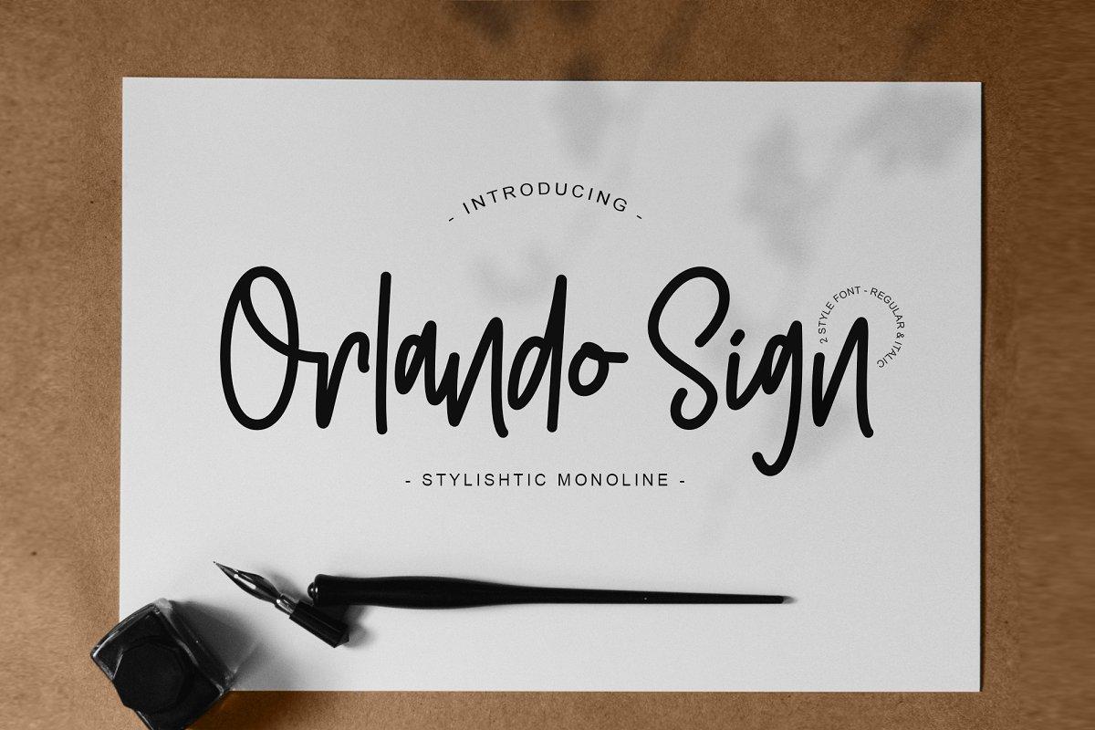 Orlando Sign | Stylishtic Monoline